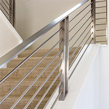 Clear crystal staircase railing handrail with Stair Railing rod, Acrylic Stair Column Railing