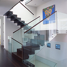 easy installation 304 stainless steel frameless glass standoff railing