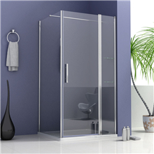 Customizable Sliding Shower Door With SUS304 Top Rail, Rollers & Wall Brackets