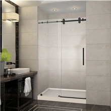 Hot sale simple sliding glass shower room door and shower cabin