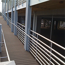 Stainless steel rod railing of balcony steel wire grill designs
