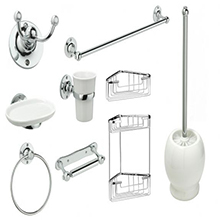 Stainless steel polish home bathroom accessories sets