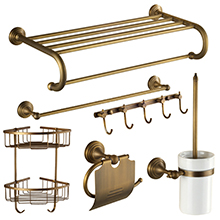 Modern Bath Accessories Products Chrome Wall-Mounted Bathroom Accessories Sets for Bath Fittings