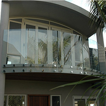 Popular Type Framless Glass Railing With StandOff