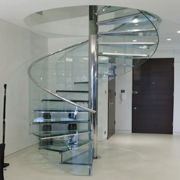 J-used stairs stainless steel glass stair railing for sale