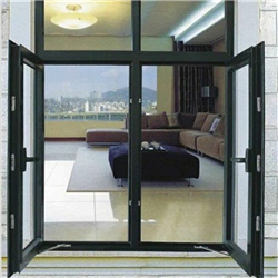 Aluminum Thermal Break Toughened Glass Swing Window-A