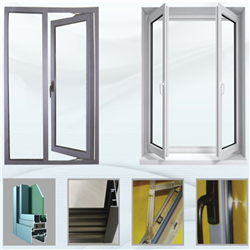 Low price powder coated aluminum glass swing insulation casement window with definition-A
