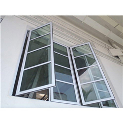 High Quality Aluminum Casement Window Wooden Color Windows Double Glazed Window-A