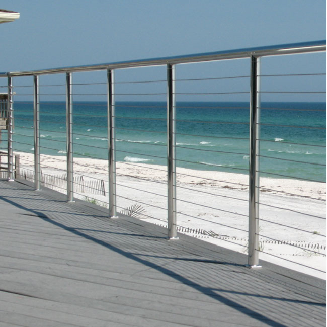 S-Building Stainless Steel Outside Balcony Wire Cable Railing