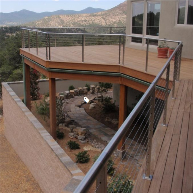 S-Balcony Railing for Outdoor Steps Stainless Steel Cable Wire Railings